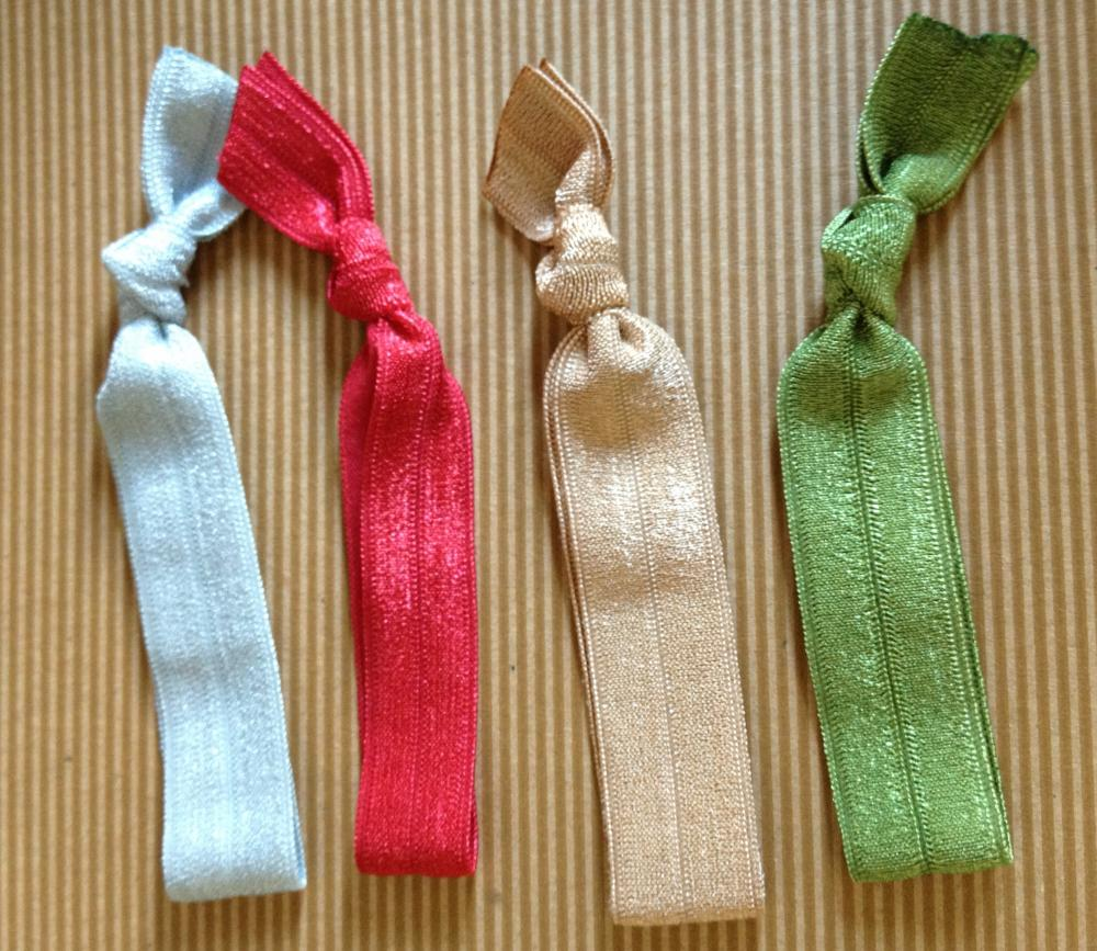 Holiday Elastic Hair Ties (and bracelets) Collection