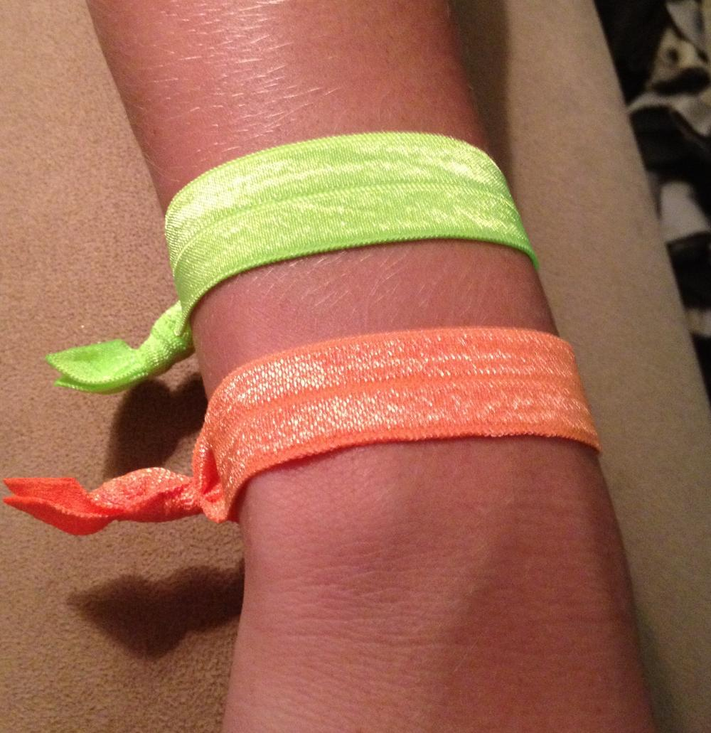 YOU PICK 2 Neon Hair Ties (and bracelets) Collections