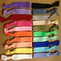 4 Solid Elastic Hair Ties (and bracelets)