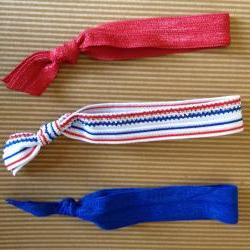 Patriotic American Elastic Hair Ties (and bracelets) Collection