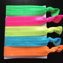 NEON Elastic Hair Ties (and bracelets) Collection