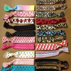 Printed Elastic Hair Ties (and bracelets)