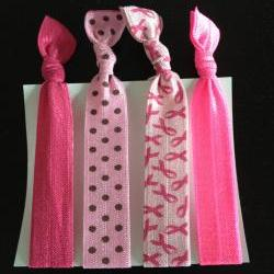 The Pink Elastic Hair Ties (and bracelets) Collection